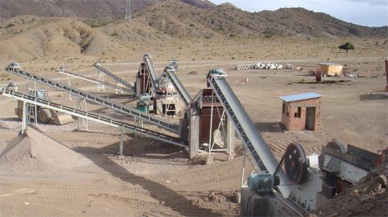 贵州砂石生产线现场