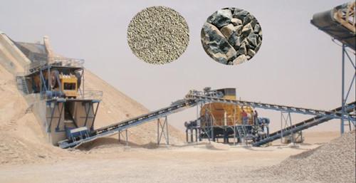 玄武岩砂石生产线现场
