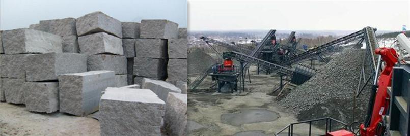 花岗岩生产线现场