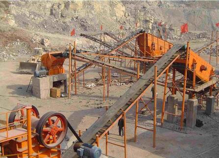 砂石生产线现场